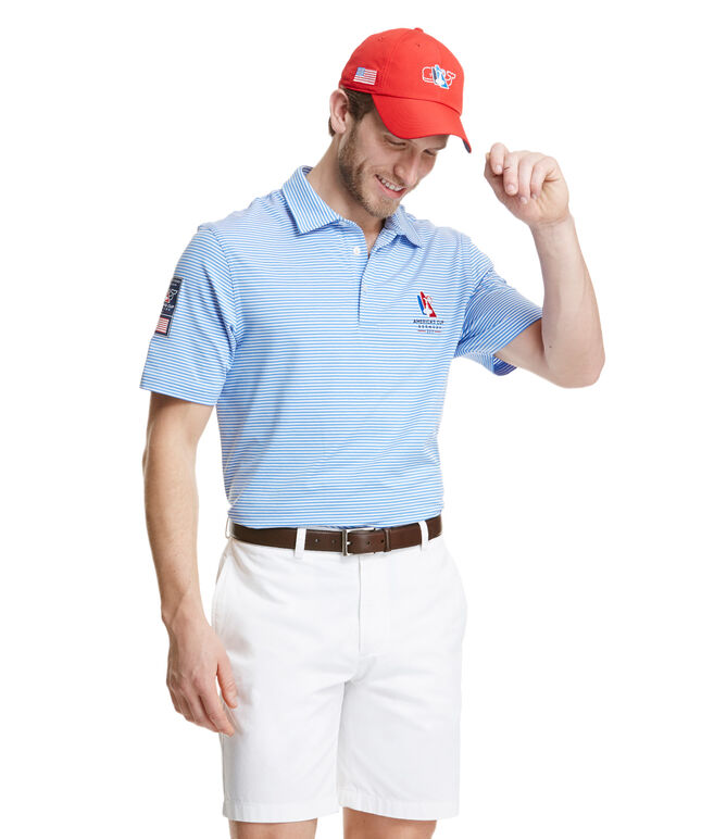America's Cup Cliff Stripe Performance Polo