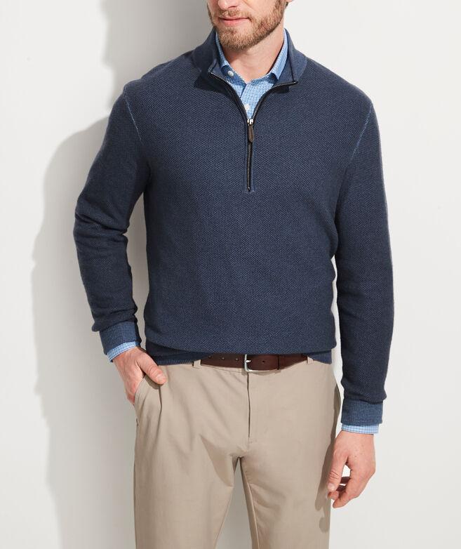 Dunmore Cashmere 1/2 Zip Sweater
