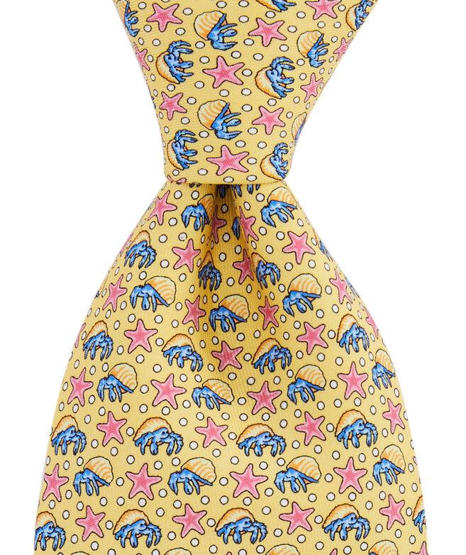 Hermit Crabs & Starfish Printed Tie