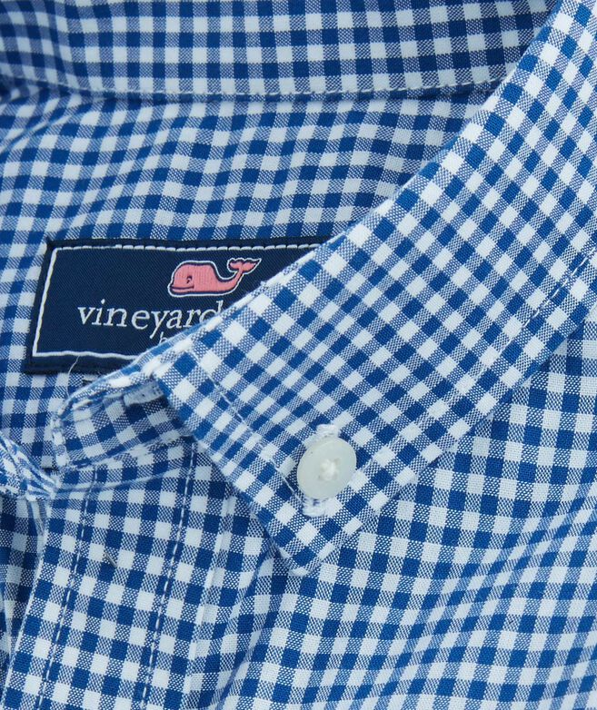 a00549fe Shop Boys Arawak Gingham Whale Shirt at vineyard vines