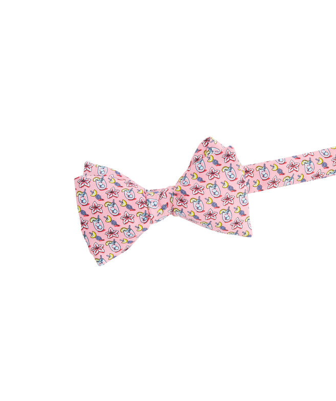 Kentucky Derby Lily Cocktail Printed Bow Tie