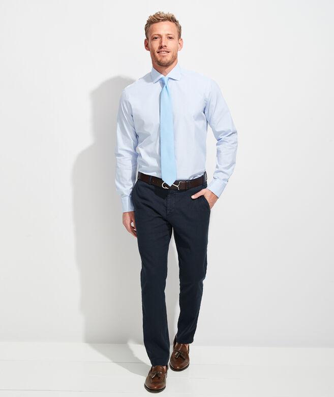 Italian Poplin Greenwich Button-Down Dress Shirt