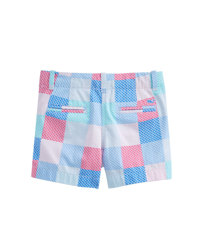Girls Whale Patchwork Every Day Shorts