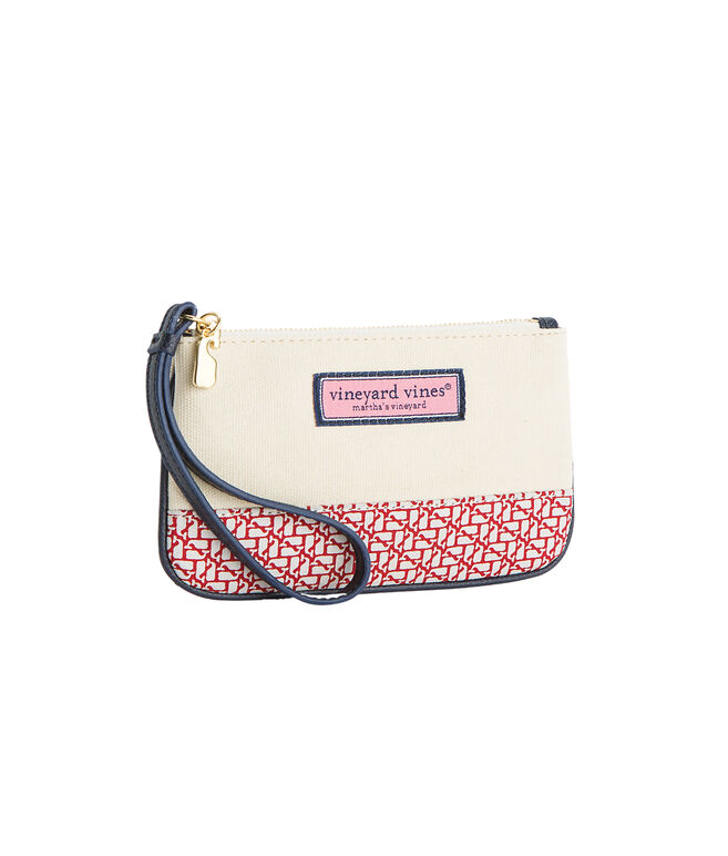 Holiday Whales Wristlet