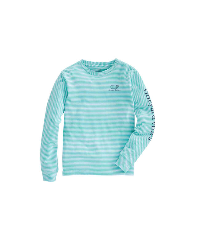 Boys Long-Sleeve Stripe Vintage Whale Edgartown T-Shirt