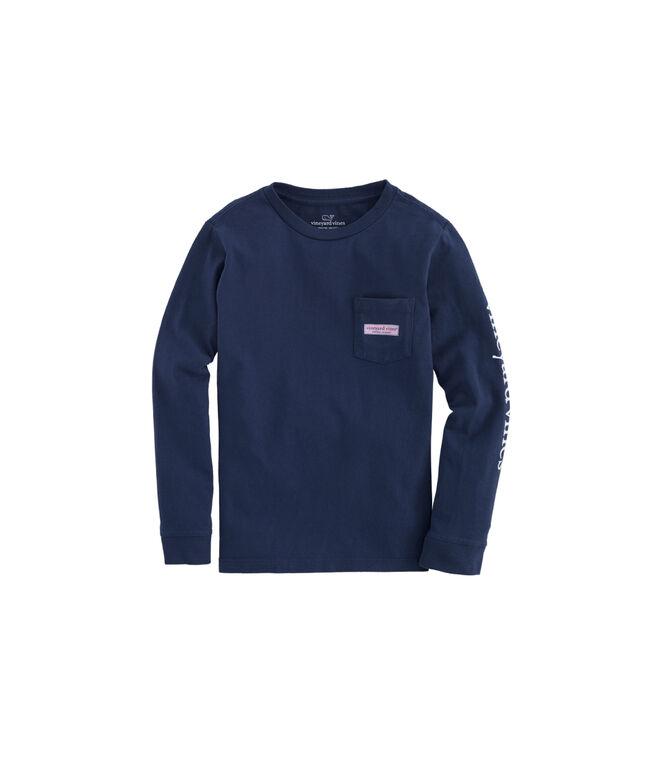Boys Garland Surf Logo Box Fill Long-Sleeve Pocket T-Shirt