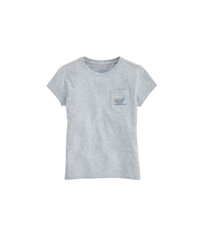 Girls Lax Girl USA Pocket Tee