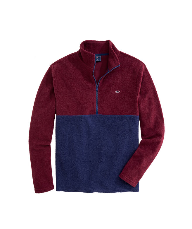 OUTLET Colorblock Sherpa Fleece 1/2-Zip