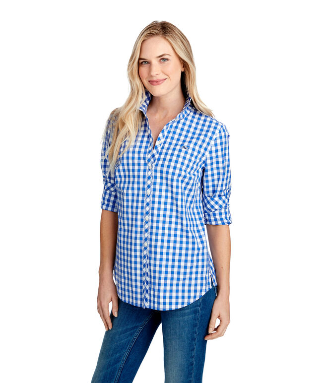 Mini Gingham Classic Button Down