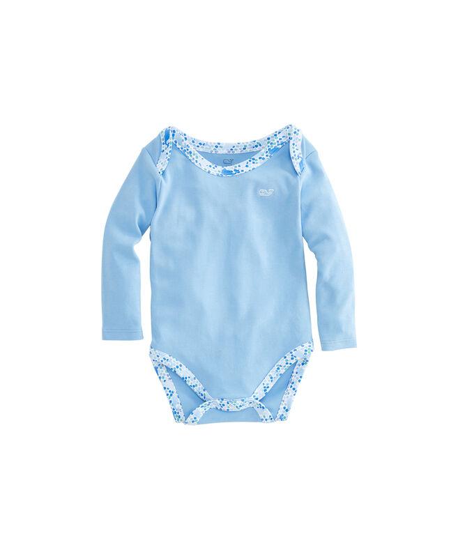 Baby Tiny Diamond Whale Print Bodysuit Set