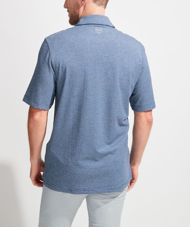 Heathered Printed Polo
