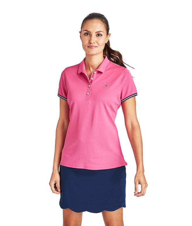Short-Sleeve Solid Pique Polo
