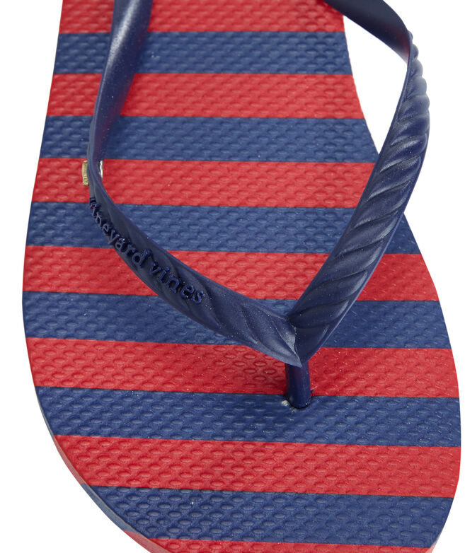 Resort Stripe Printed Flip Flops