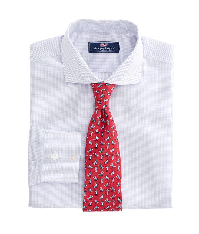 Micro Graph Check Spread Collar Greenwich Shirt