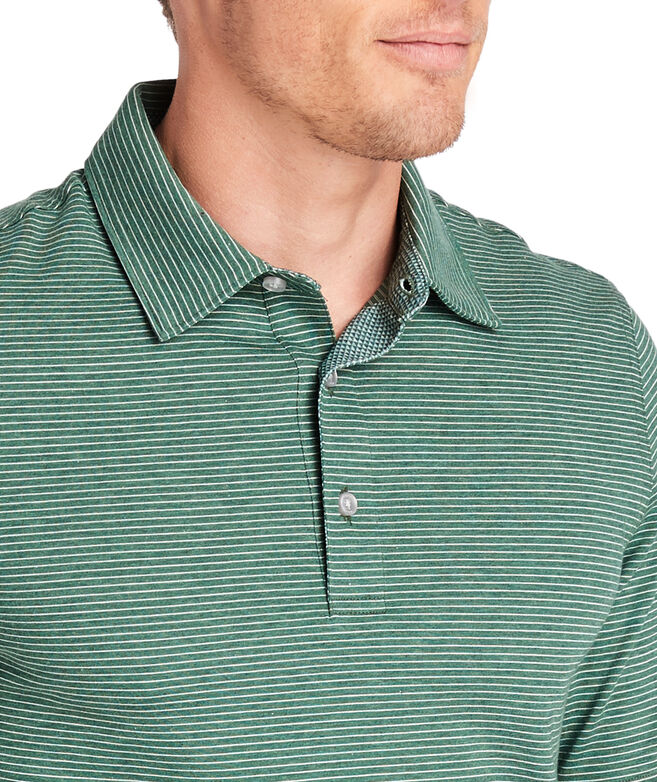 Carmel Heathered Wide Stripe Polo