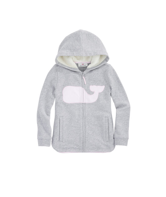 Girls Whale Full-Zip Sweatshirt