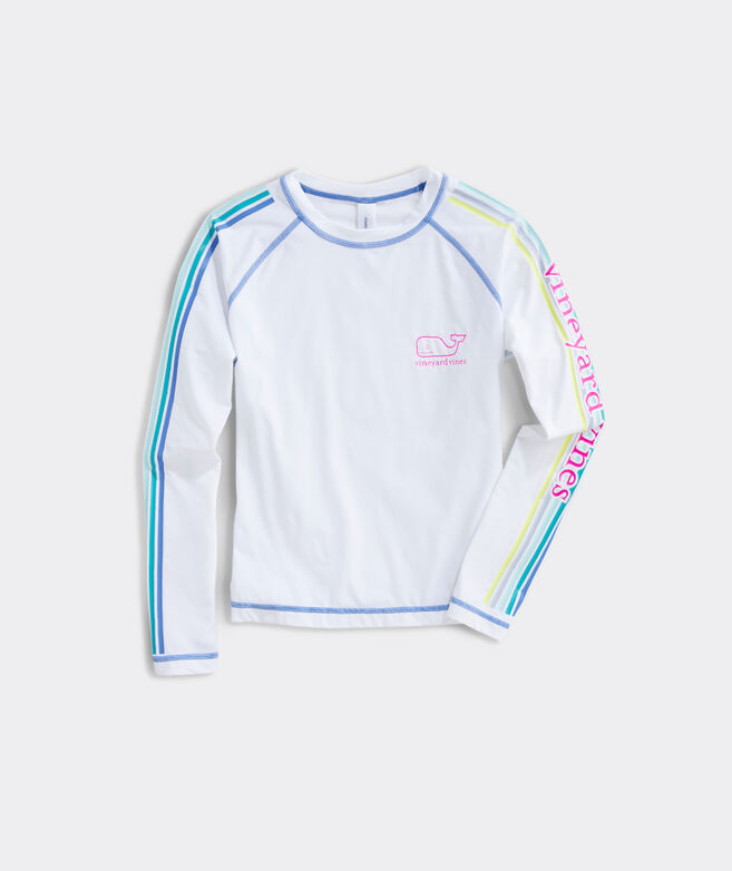 Girls' Long-Sleeve vineyard vines Sleeve-Stripe Rashguard