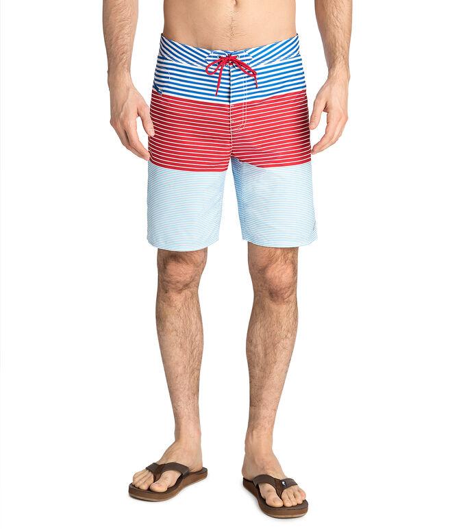 Whale Harbor Stripe Board Shorts