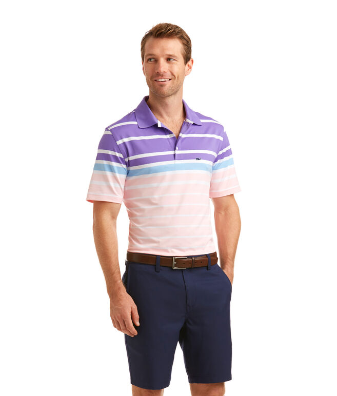 O'Keefe Stripe Performance Polo