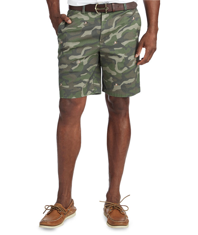 9 Inch Embroidered Surfing Dog Breaker Shorts