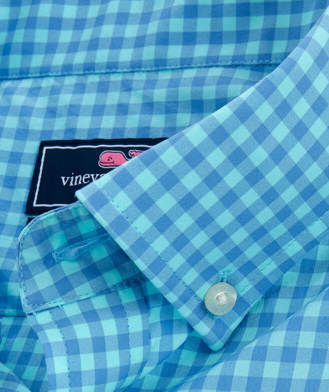 Classic Color-To-Color Gingham On-The-Go Performance Murray Shirt