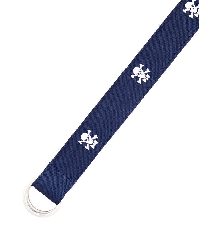 Boys Skull & Crossbones D-Ring Belt