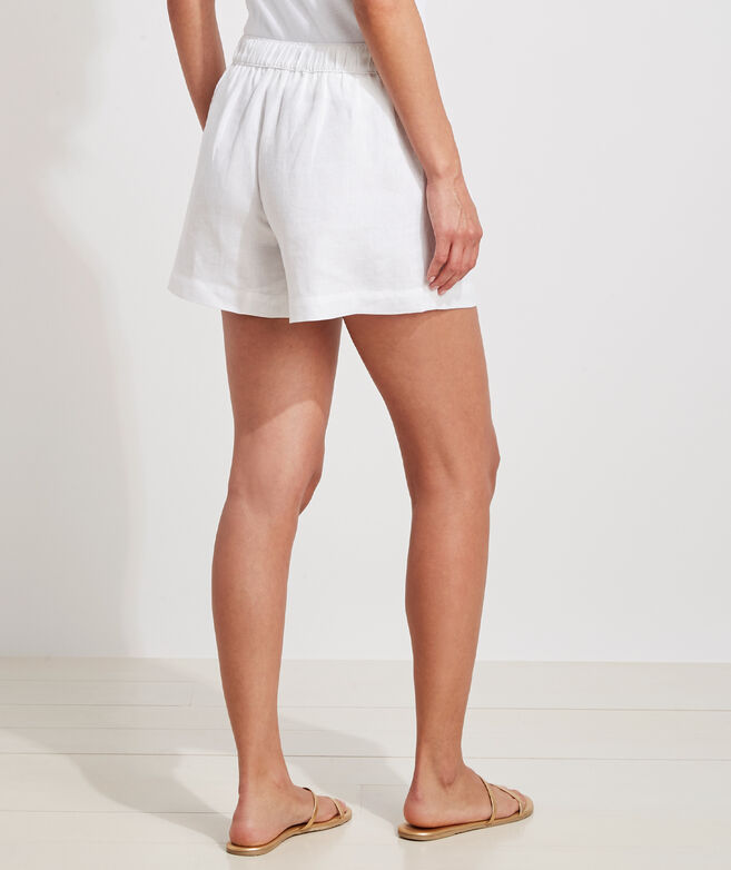 Luxe Linen Pull-On Shorts
