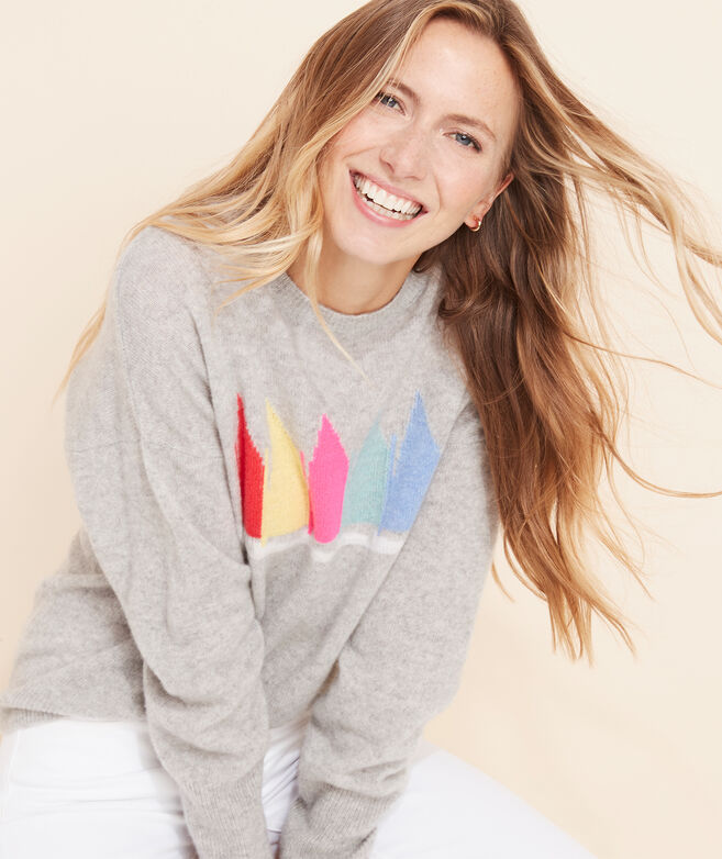 Rainbow Fleet Lofty Cashmere Crewneck Sweater