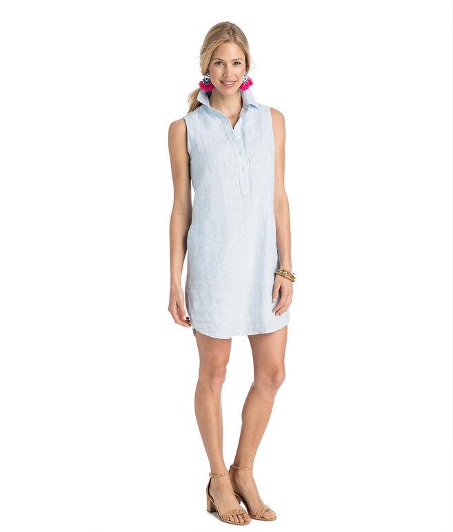 Tiny Breeze Stripe Sleeveless Shirt Dress