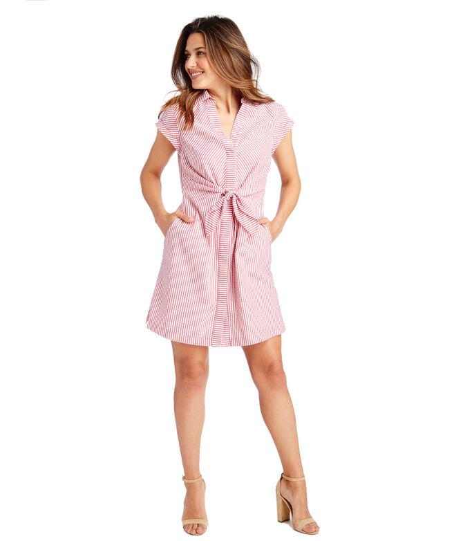 Shop Seersucker Tie Front Dress At Vineyard Vines