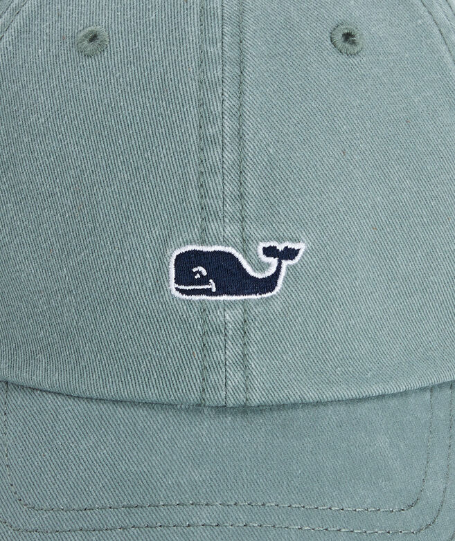 Whale Logo Leather Strap Baseball Hat