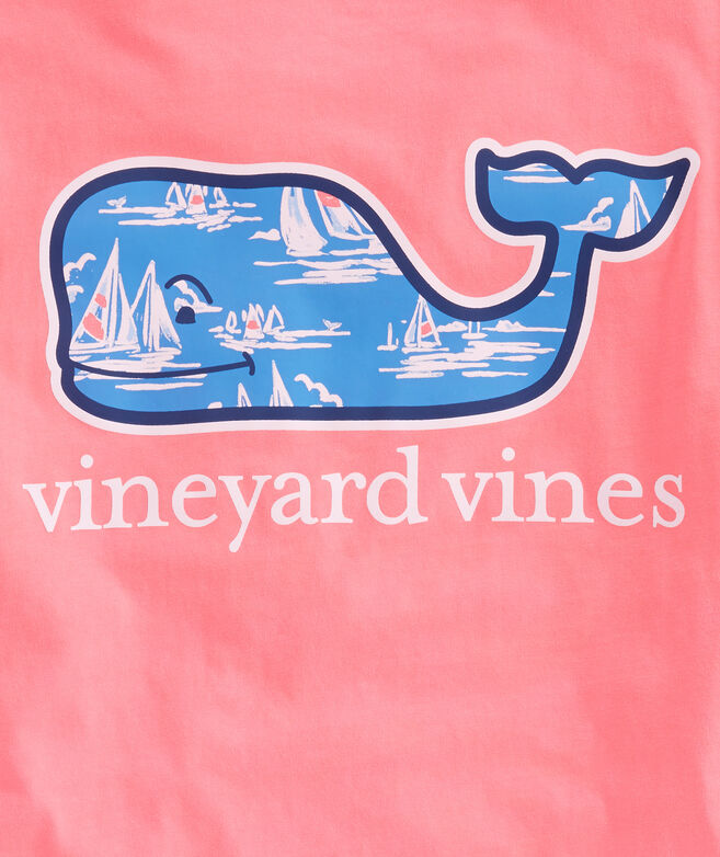 Sailing Scene Whale Fill Pocket T-Shirt