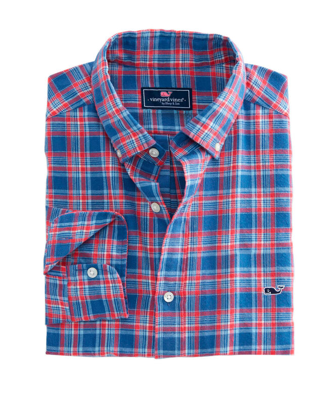 OUTLET Classic Fit Lockwood Plaid Twill Whale Shirt