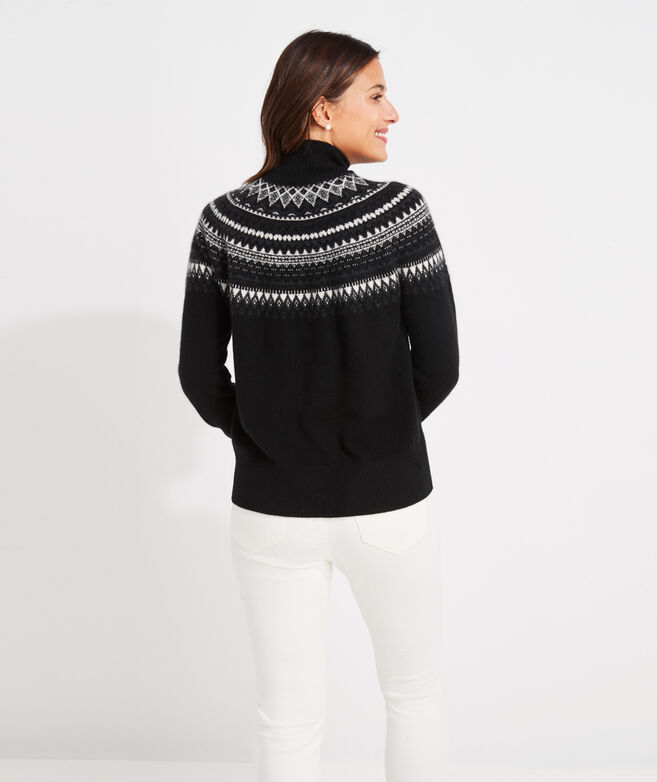 Nordic Fair Isle Cashmere Mockneck Sweater