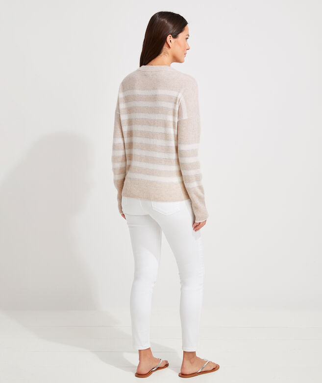 Lofty Cashmere Shine Stripe Sweater