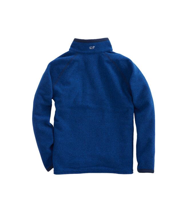 Boys Textured Fleece 1/4-Zip