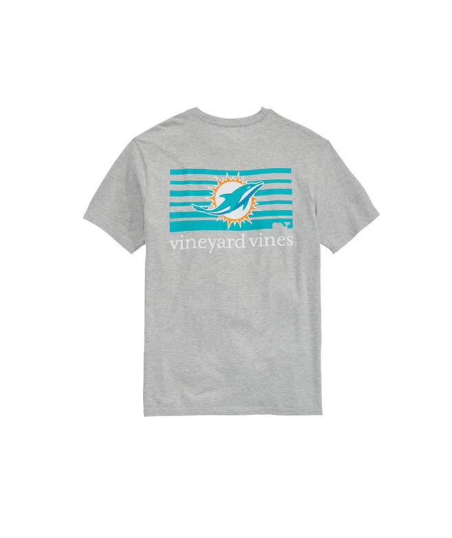 Miami Dolphins Block Stripe T-Shirt