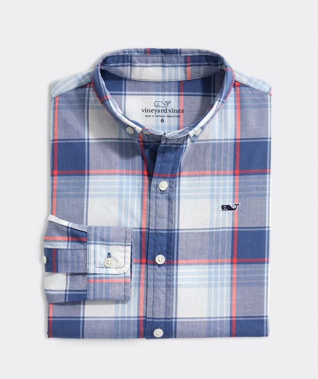 Boys' Lagoon Whale Button-Down Shirt