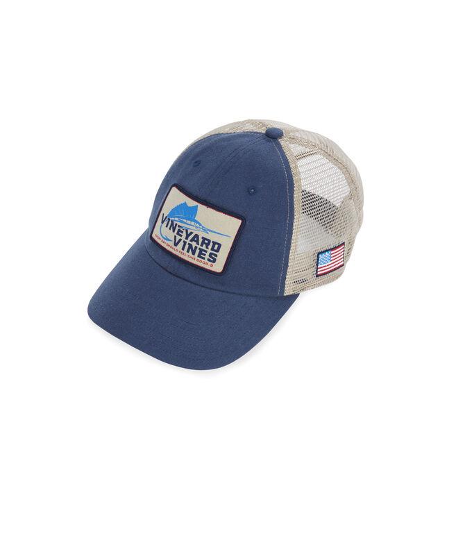 Boys Marlin Patch Trucker Hat