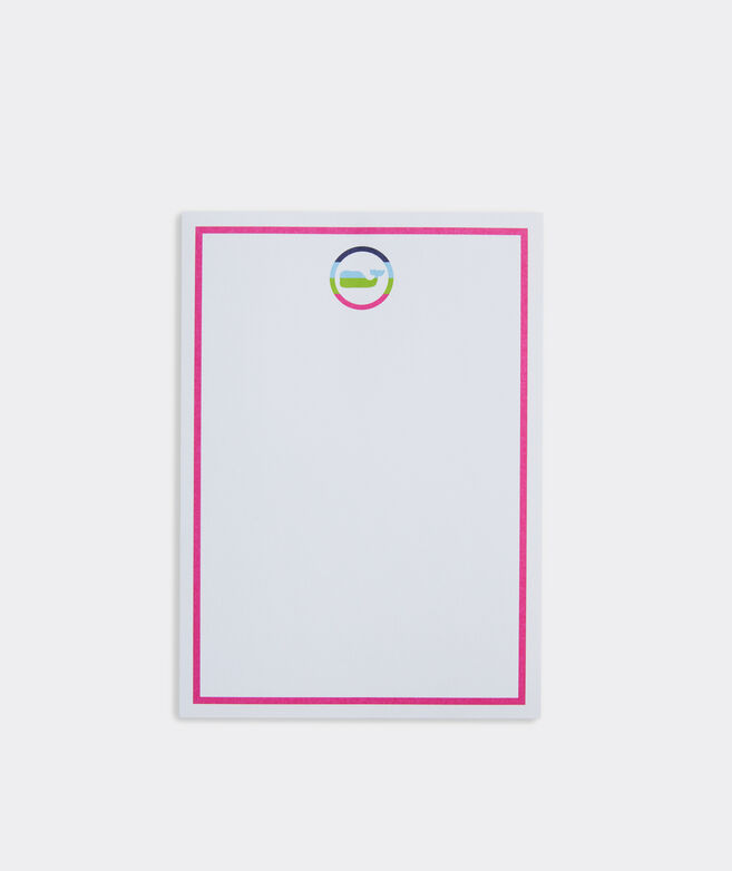 Neon Whale Notepad