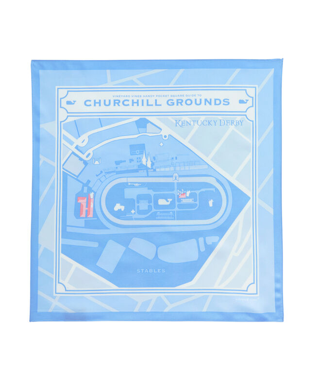 Kentucky Derby Map Of The Grounds Pocket Square
