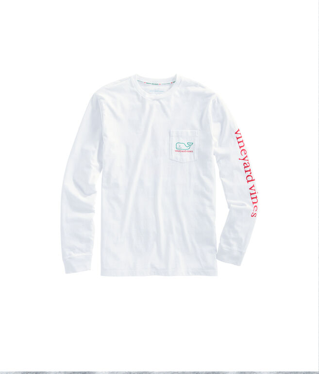 Long-Sleeve Naughty Or Nice Pocket T-Shirt