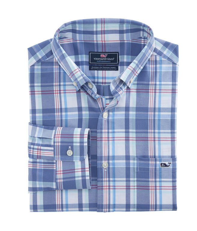Otter Rock Plaid Classic Performance Cotton Tucker Shirt