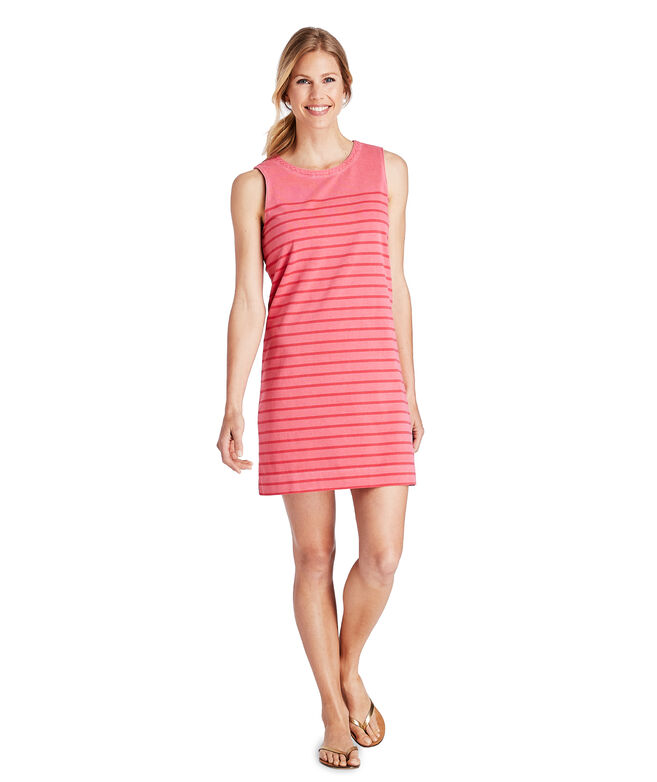 Over-Dyed Striped Nantucket Shift Dress