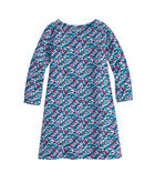 Girls Swimming Whales Tisbury Knit Dress
