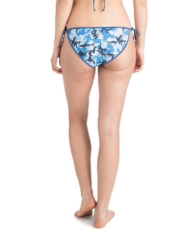 Womens Shark Week Camo String Bikini Bottom