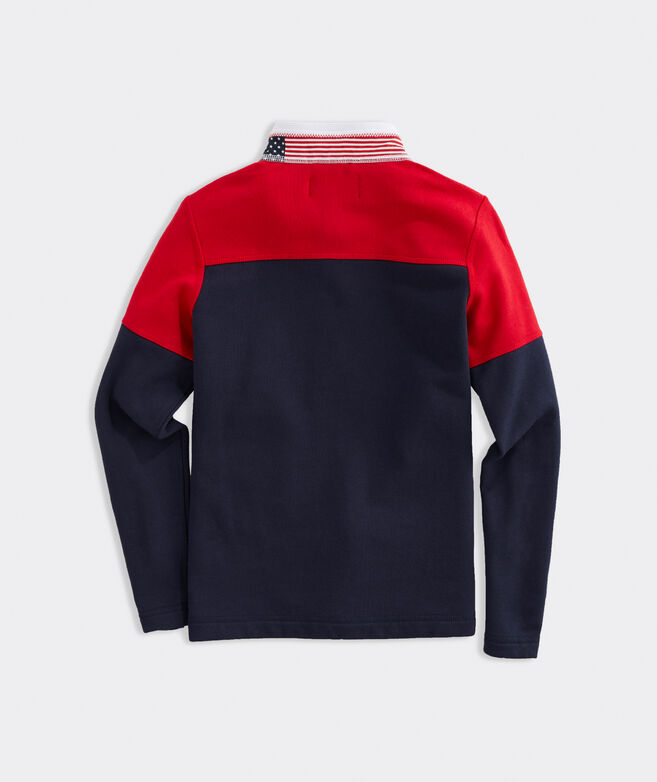 Boys' USA Colorblock Mockneck 1/2-Zip Shep Shirt
