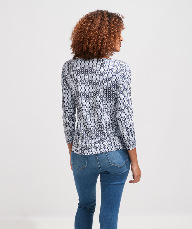 Printed Sankaty Simple Boatneck Tee