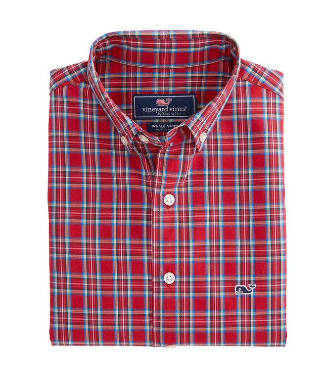 Boys Riverton Plaid Whale Shirt
