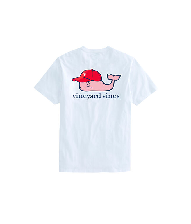 Adult Philadelphia Phillies Baseball Cap Pocket T-Shirt